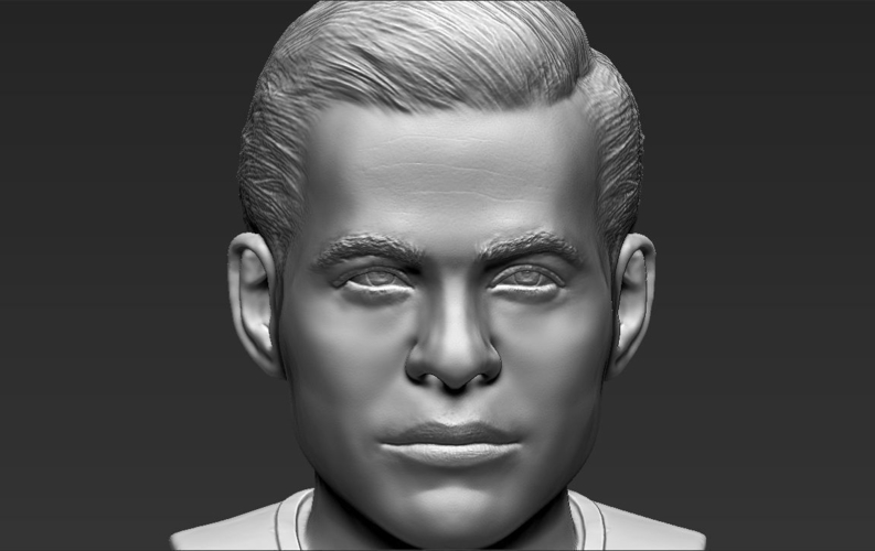 Captain Kirk Chris Pine Star Trek bust full color 3D printing 3D Print 231053