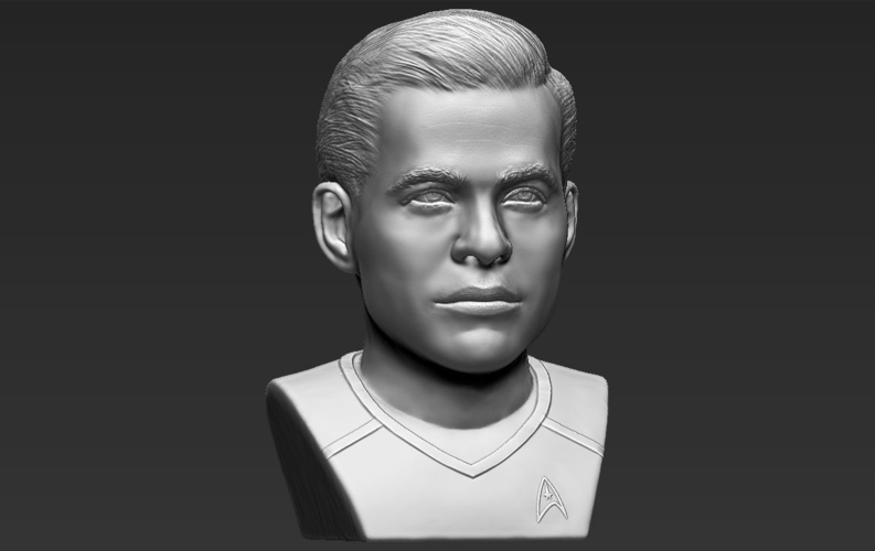 Captain Kirk Chris Pine Star Trek bust full color 3D printing 3D Print 231054