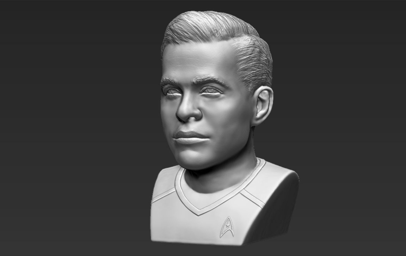 Captain Kirk Chris Pine Star Trek bust full color 3D printing 3D Print 231055