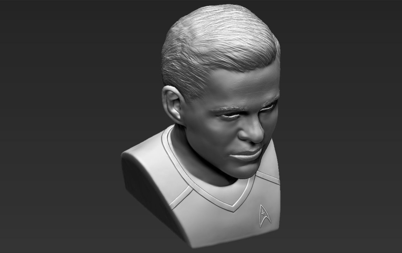 Captain Kirk Chris Pine Star Trek bust full color 3D printing 3D Print 231057