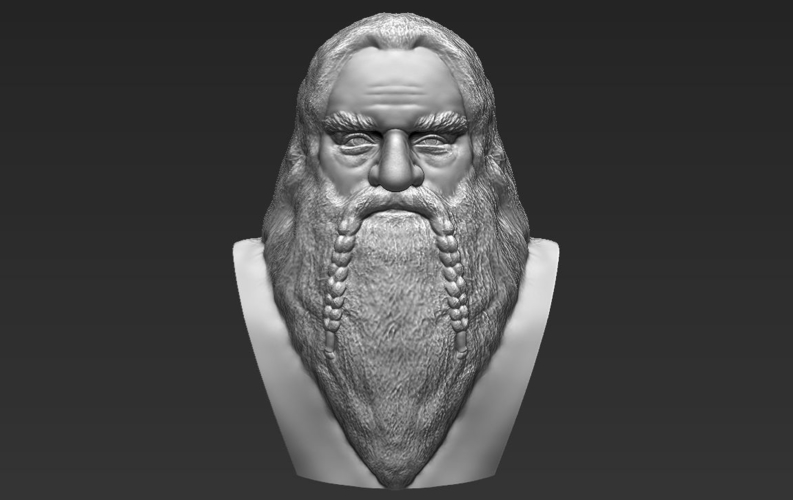 Gimli Lord of the Rings bust 3D printing ready stl obj 3D Print 231061