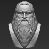 Small Gimli Lord of the Rings bust 3D printing ready stl obj 3D Printing 231061