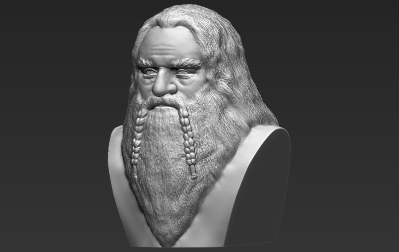 Gimli Lord of the Rings bust 3D printing ready stl obj 3D Print 231063