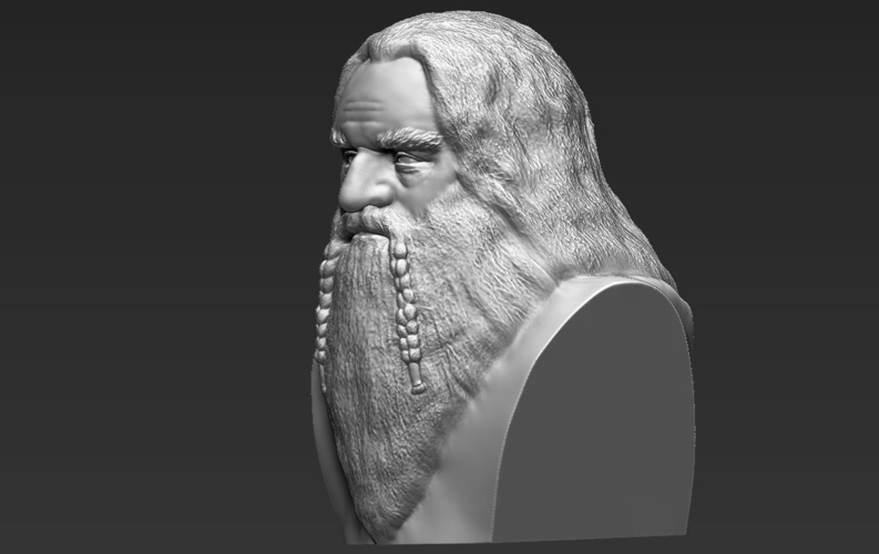 Gimli Lord of the Rings bust 3D printing ready stl obj 3D Print 231065