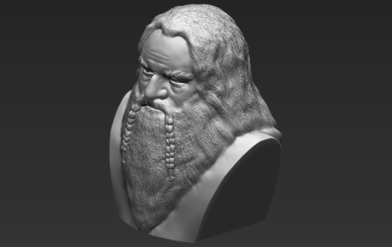 Gimli Lord of the Rings bust 3D printing ready stl obj 3D Print 231067