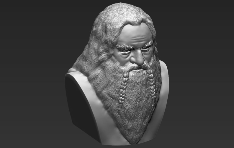 Gimli Lord of the Rings bust 3D printing ready stl obj 3D Print 231068