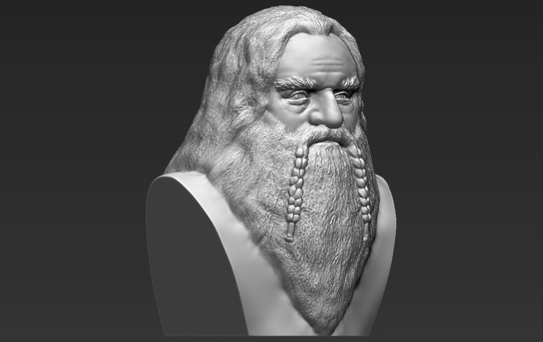 Gimli Lord of the Rings bust 3D printing ready stl obj 3D Print 231069