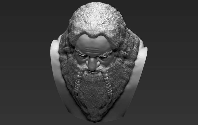 Gimli Lord of the Rings bust 3D printing ready stl obj 3D Print 231070
