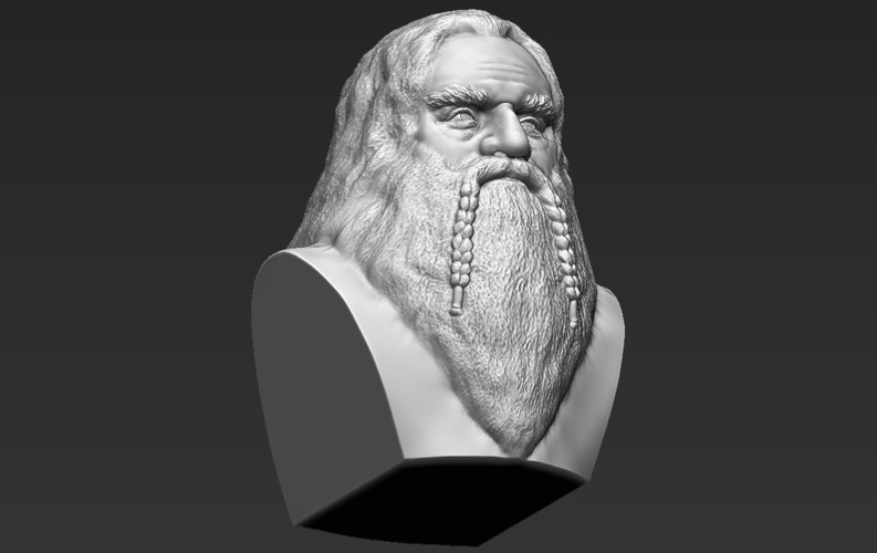 Gimli Lord of the Rings bust 3D printing ready stl obj 3D Print 231071