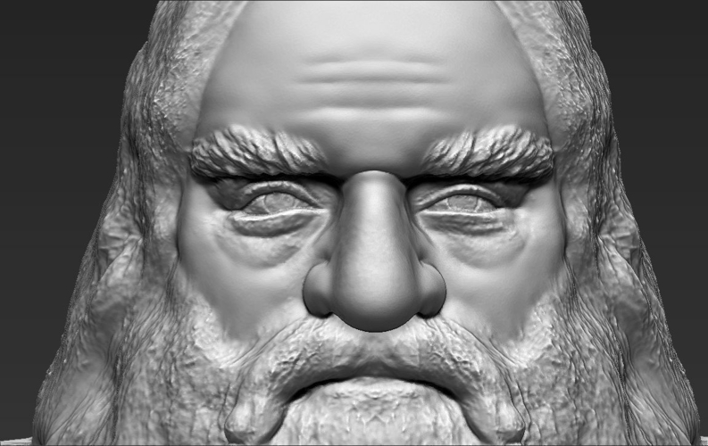 Gimli Lord of the Rings bust 3D printing ready stl obj 3D Print 231072