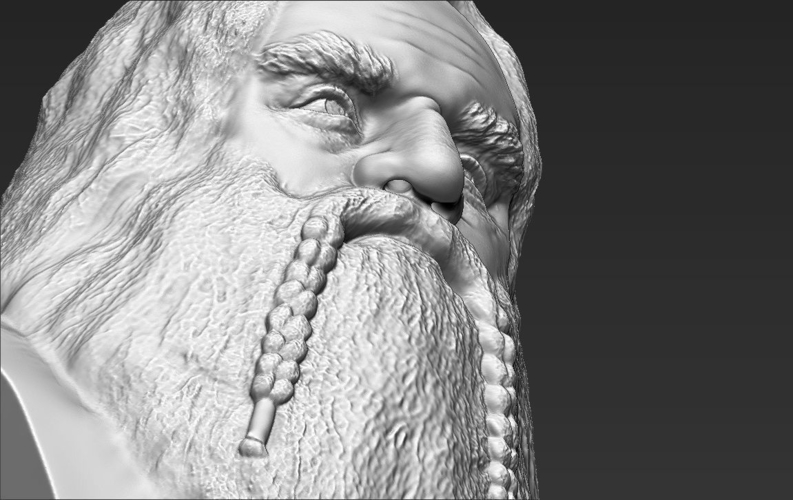 Gimli Lord of the Rings bust 3D printing ready stl obj 3D Print 231074