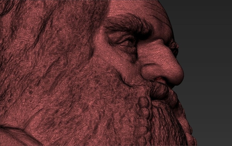 Gimli Lord of the Rings bust 3D printing ready stl obj 3D Print 231075