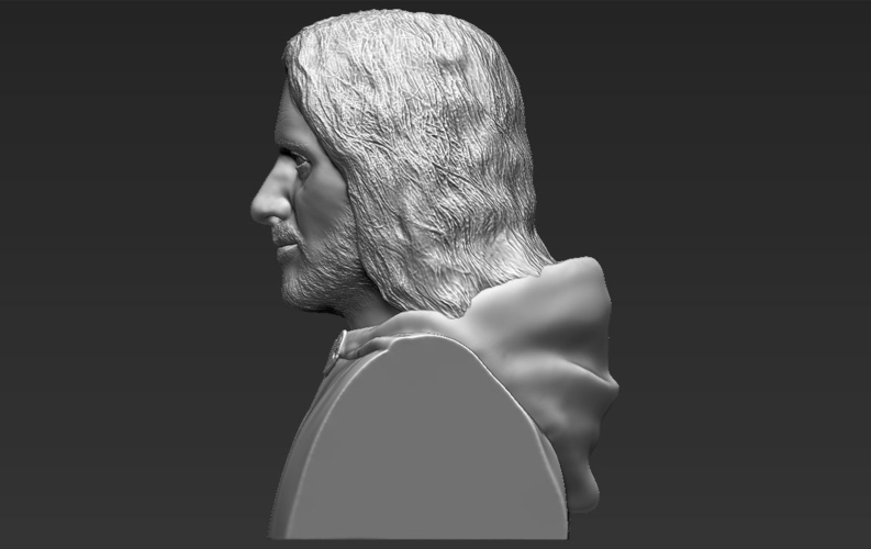 Aragorn bust Lord of the Rings 3D printing ready stl obj 3D Print 231107