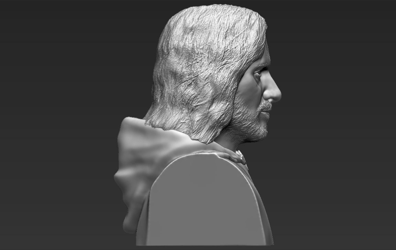 Aragorn bust Lord of the Rings 3D printing ready stl obj 3D Print 231108