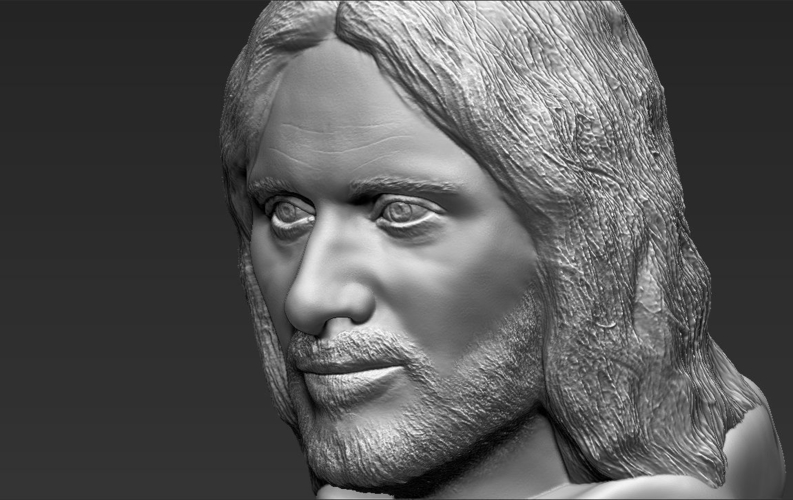 Aragorn bust Lord of the Rings 3D printing ready stl obj 3D Print 231109