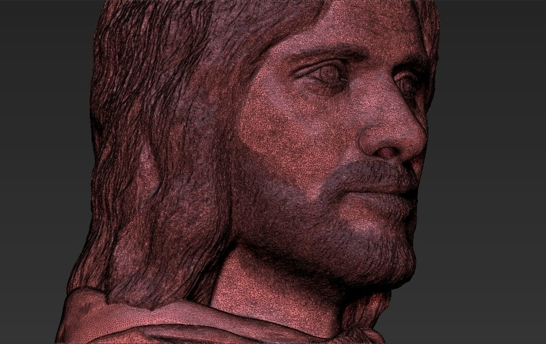 Aragorn bust Lord of the Rings 3D printing ready stl obj 3D Print 231115
