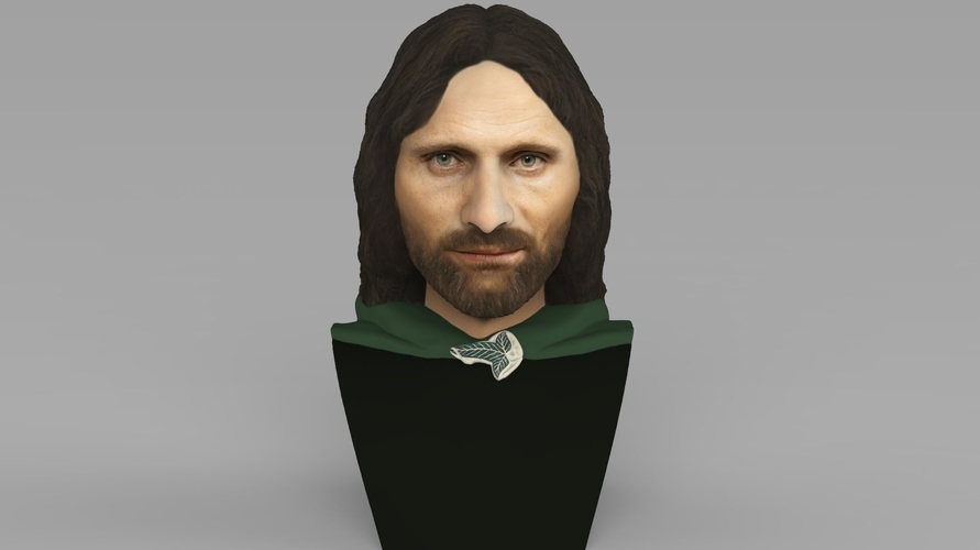 Aragorn bust Lord of the Rings for full color 3D printing 3D Print 231117