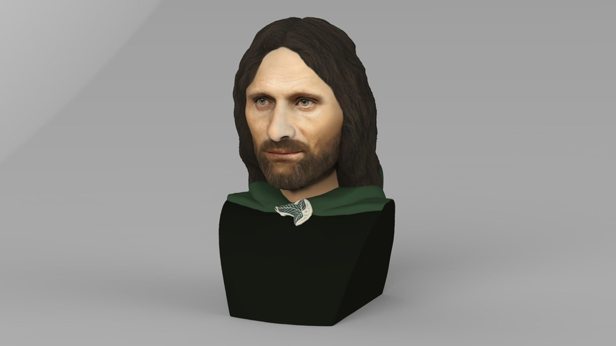 Aragorn bust Lord of the Rings for full color 3D printing 3D Print 231118