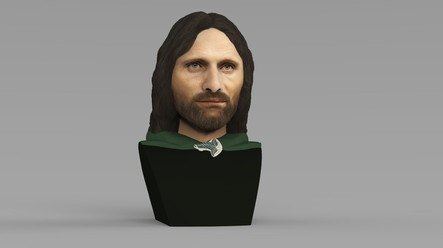 Aragorn bust Lord of the Rings for full color 3D printing 3D Print 231119