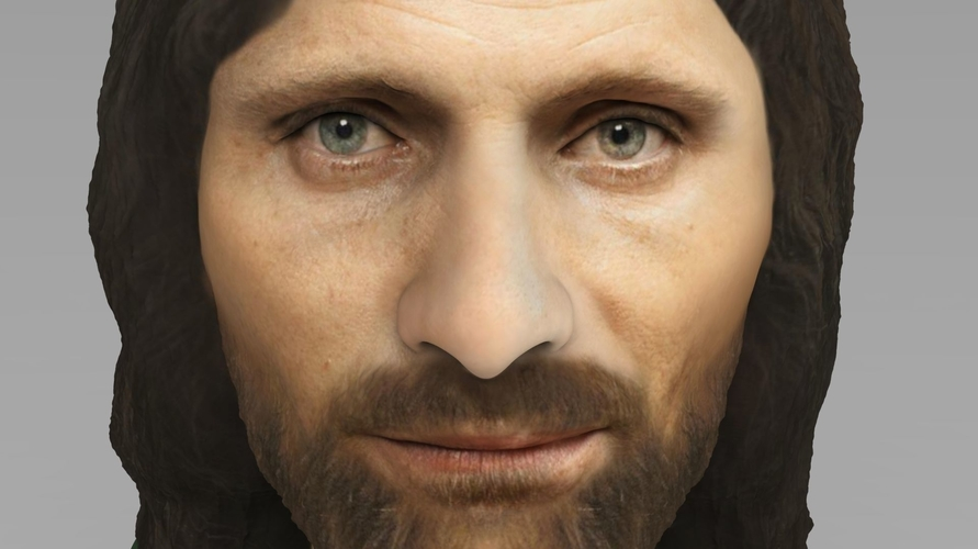 Aragorn bust Lord of the Rings for full color 3D printing 3D Print 231120