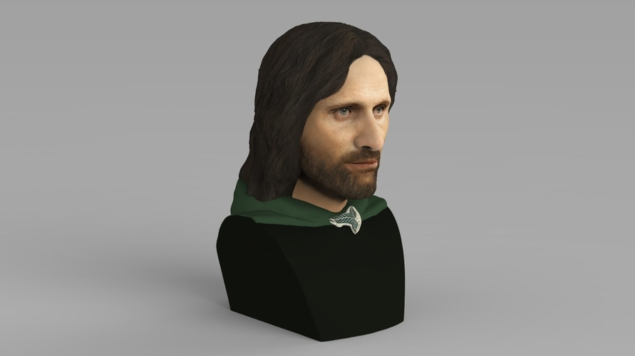 Aragorn bust Lord of the Rings for full color 3D printing 3D Print 231121
