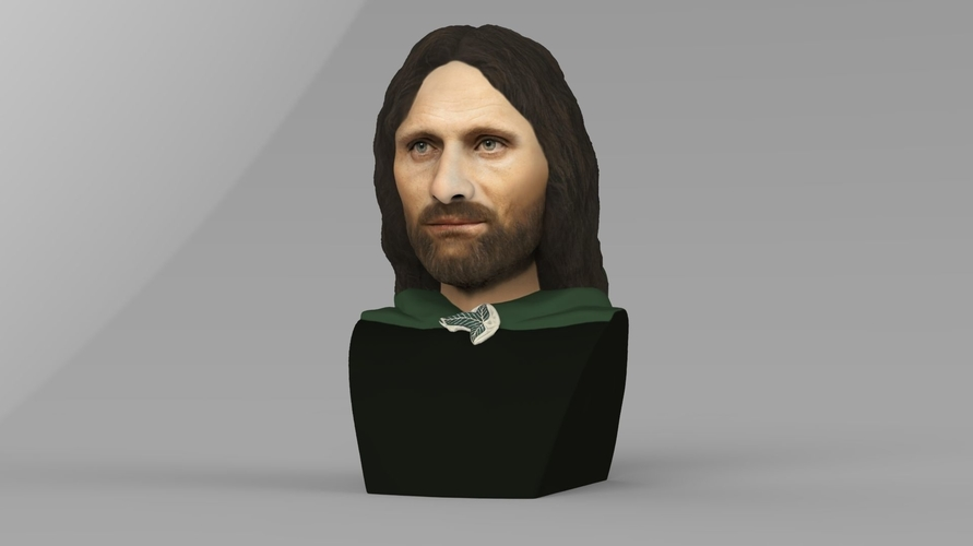 Aragorn bust Lord of the Rings for full color 3D printing 3D Print 231122