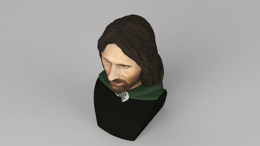 Aragorn bust Lord of the Rings for full color 3D printing 3D Print 231123