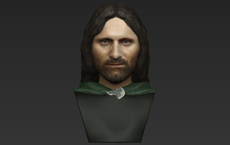 Aragorn bust Lord of the Rings for full color 3D printing 3D Print 231124