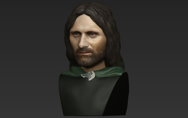 Aragorn bust Lord of the Rings for full color 3D printing 3D Print 231125
