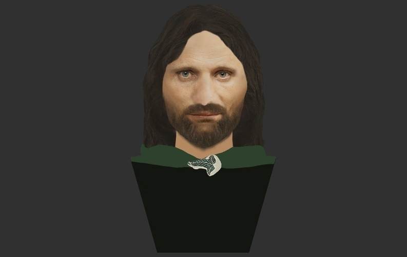 Aragorn bust Lord of the Rings for full color 3D printing 3D Print 231126