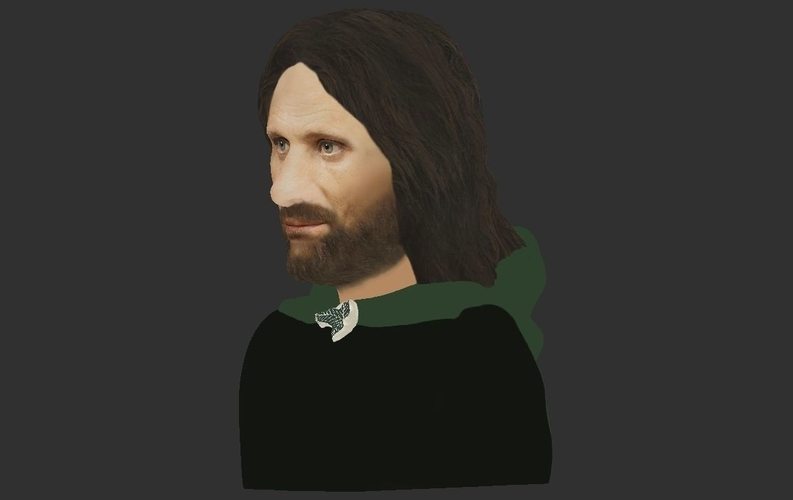 Aragorn bust Lord of the Rings for full color 3D printing 3D Print 231127