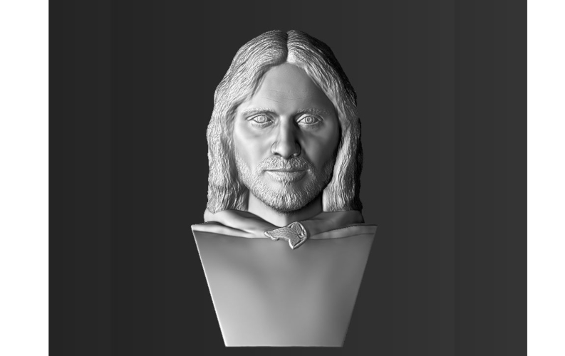 Aragorn bust Lord of the Rings for full color 3D printing 3D Print 231128