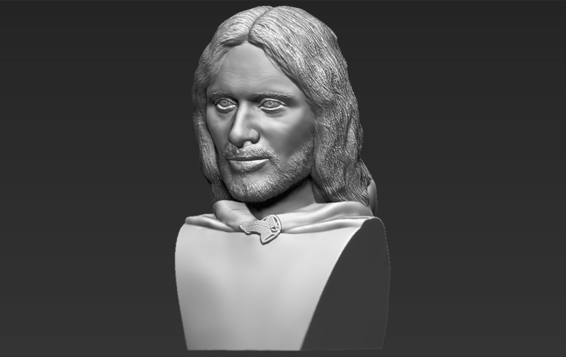Aragorn bust Lord of the Rings for full color 3D printing 3D Print 231129
