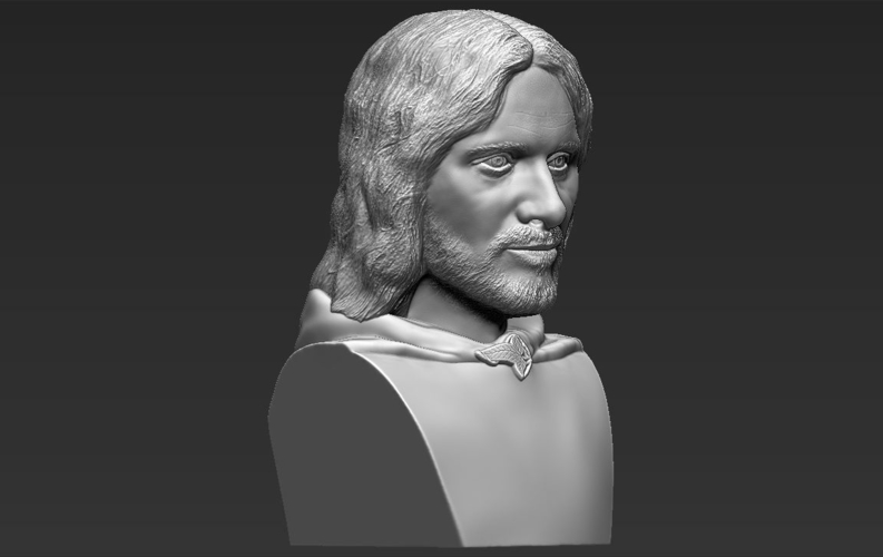 Aragorn bust Lord of the Rings for full color 3D printing 3D Print 231130