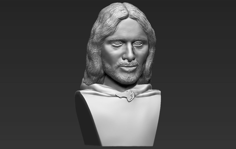 Aragorn bust Lord of the Rings for full color 3D printing 3D Print 231131