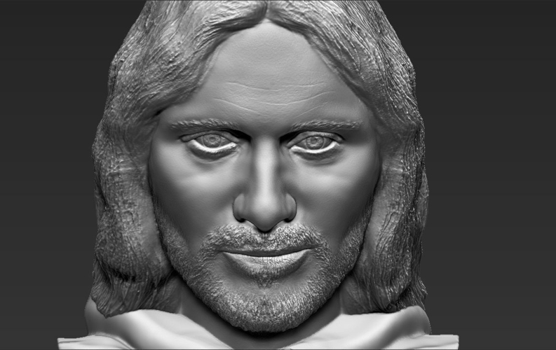 Aragorn bust Lord of the Rings for full color 3D printing 3D Print 231132