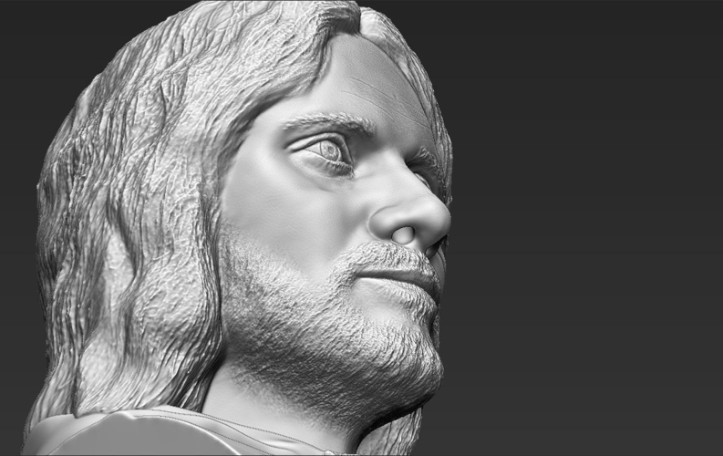 Aragorn bust Lord of the Rings for full color 3D printing 3D Print 231134