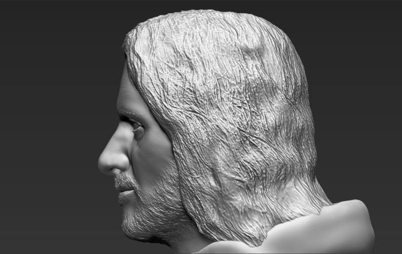 Aragorn bust Lord of the Rings for full color 3D printing 3D Print 231135