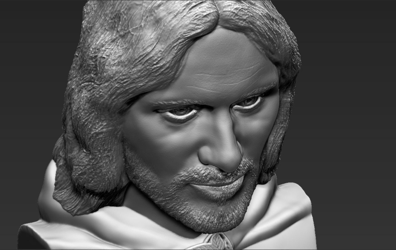 Aragorn bust Lord of the Rings for full color 3D printing 3D Print 231136