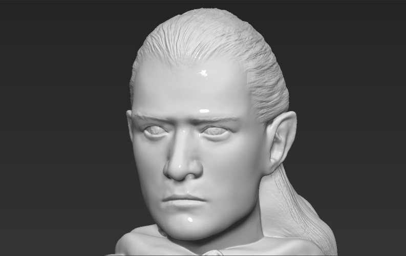 Legolas bust Lord of the Rings 3D printing ready stl obj 3D Print 231143
