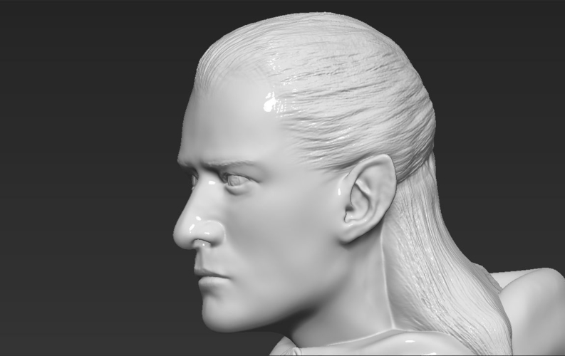 Legolas bust Lord of the Rings 3D printing ready stl obj 3D Print 231144