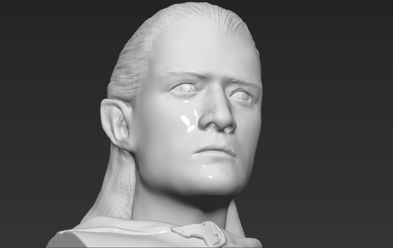 Legolas bust Lord of the Rings 3D printing ready stl obj 3D Print 231145