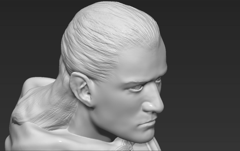 Legolas bust Lord of the Rings 3D printing ready stl obj 3D Print 231153