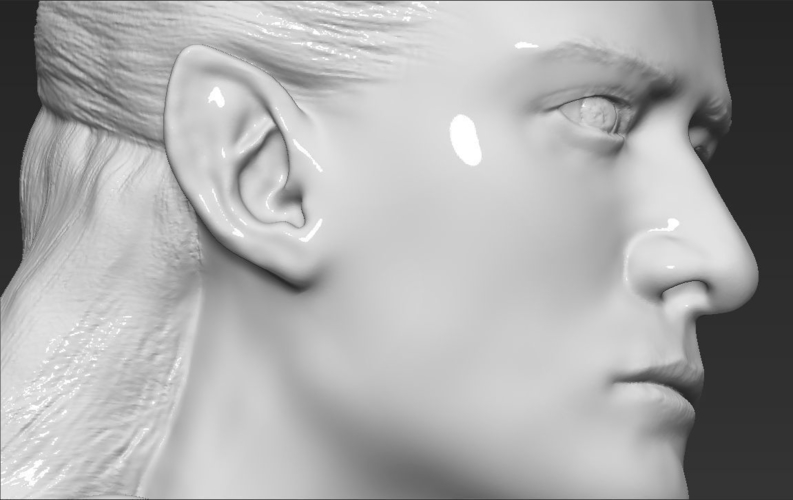 Legolas bust Lord of the Rings 3D printing ready stl obj 3D Print 231155