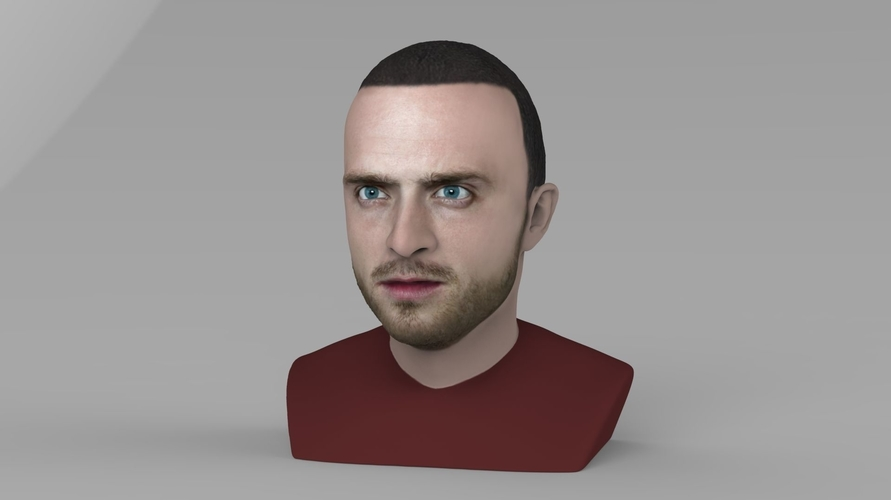 Jesse Pinkman Breaking Bad bust ready for full color 3D printing 3D Print 231339