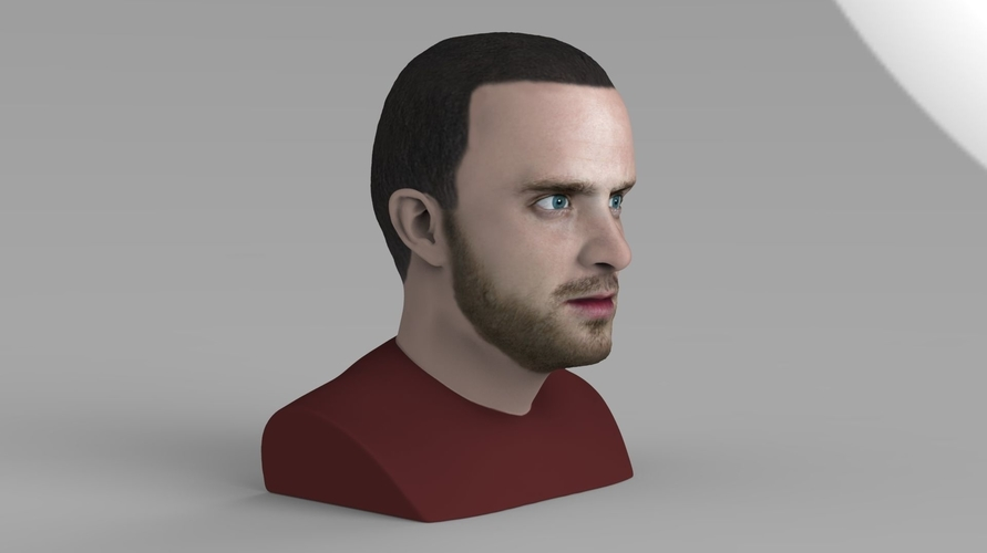 Jesse Pinkman Breaking Bad bust ready for full color 3D printing 3D Print 231342