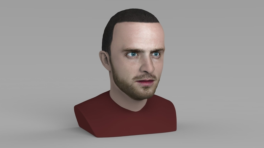 Jesse Pinkman Breaking Bad bust ready for full color 3D printing 3D Print 231344