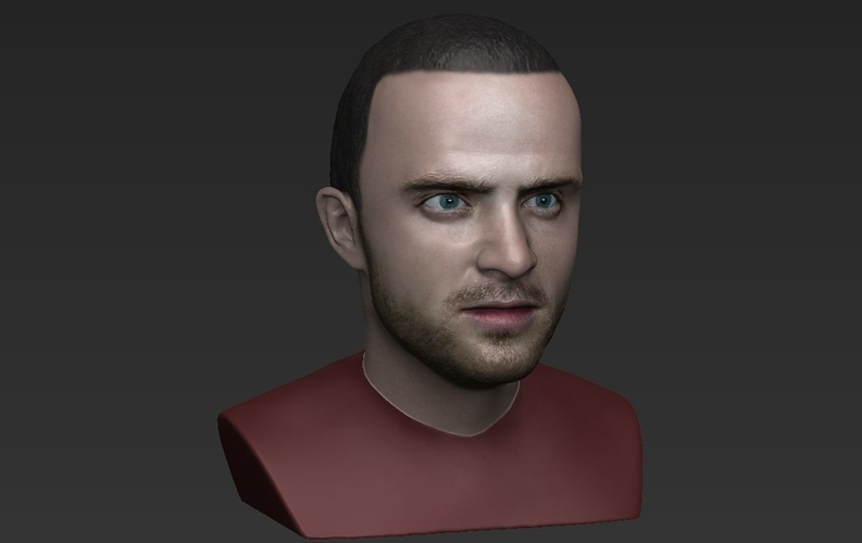 Jesse Pinkman Breaking Bad bust ready for full color 3D printing 3D Print 231348