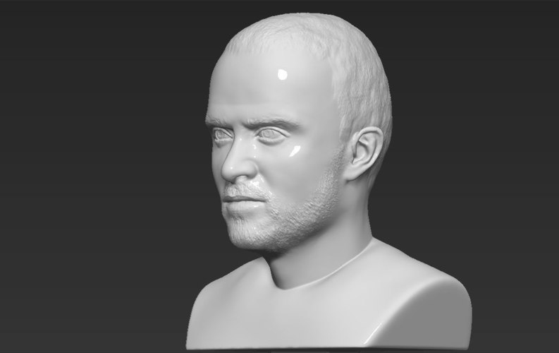 Jesse Pinkman Breaking Bad bust ready for full color 3D printing 3D Print 231351