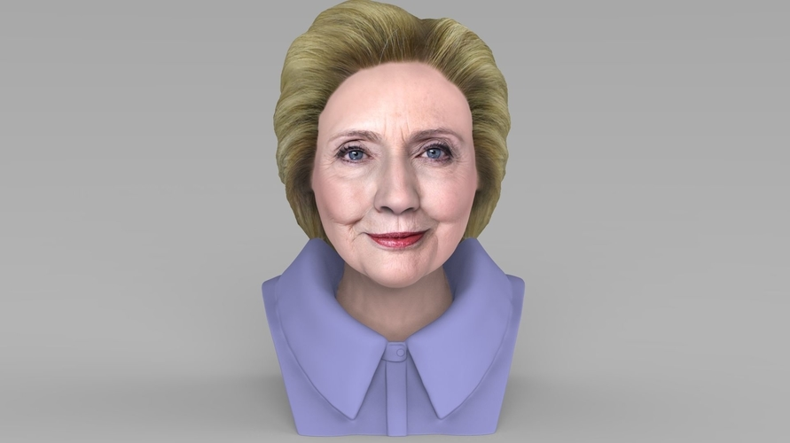 Hillary Clinton bust ready for full color 3D printing 3D Print 231374